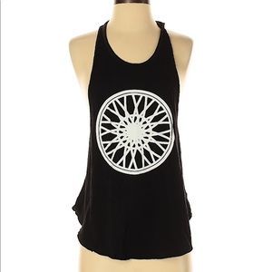 Soulcycle Black Graphic Tank Racerback Loose fit
